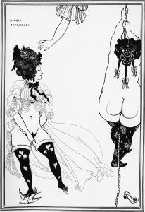 (Illustration Aubrey Beardsleys zu einer Textausgabe der Lysistrate, 1896)